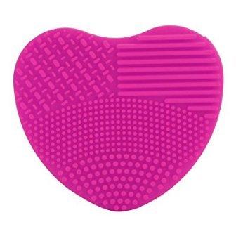 Arpoador Gommage Pad En Forme De Coeur Gommage Oeuf Silicone En Forme De Coeur Gommage Artefact Rose Rouge 1 Pc