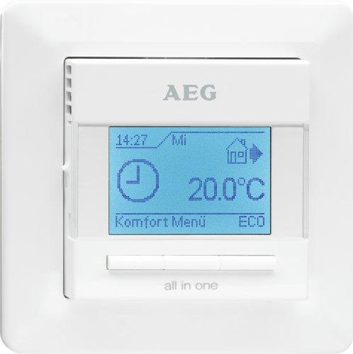 AEG Komfort Fußbodentemperatur-Regler FRTD 903, LCD-Display, weiß,  229702