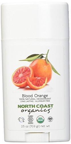 NORTH COAST ORGANICS Blood Orange Organic Deodorant, 0.02 Pound