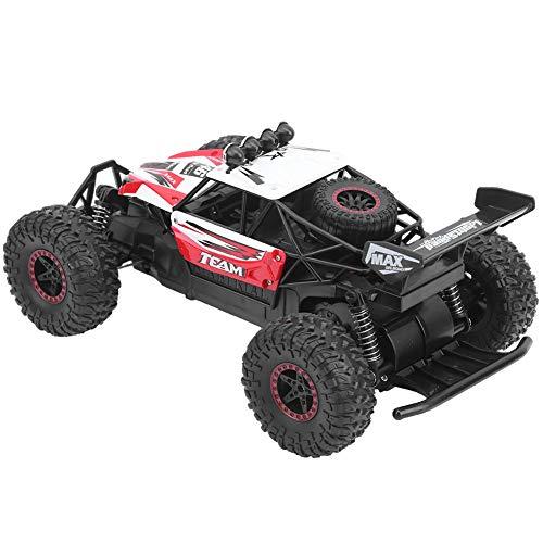 Toy Grade 1:14 Scale Remote Control Car Dos ruedas motrices Recargable Modelo de automóvil Toy RC Car Toy Regalo increíble Coche de juguete con 2.4G Control remoto para 6+ Niños Niños y adultos(rojo)