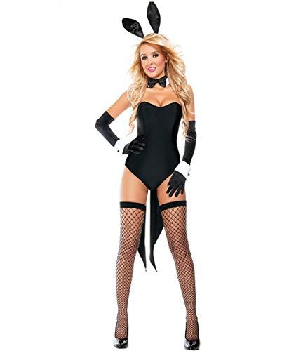Set di Lingerie Sexy da Donna, Costume da Coniglietto Sexy da Donna, Coniglio Halloween Vestito Sexy Bunny Costume Costume Adulti