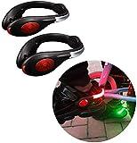 LED Clip del Pattino di Luci di Sicurezza,scarpa da corsa luci,USB di Ricarica Impermeabile,adatto per la Notte Riflettente di Sicurezza Da Corsa Attrezzature Utilizzate da notte runner,Ciclisti (Red)