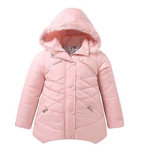 Roiii Women Thicken Warm Winter Coat Hooded Parka Overcoat Long Jacket Outwear (S, Pink)