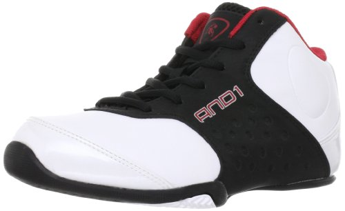 AND1 Reign Mid 1001203075 Unisex - Kinder Sportschuhe - Basketball, Weiss (White/Black/V.Red),EU 35.5(US3.5)