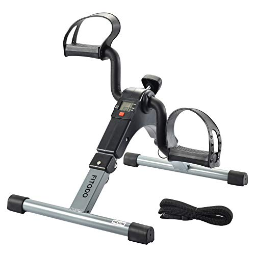 FITODO Mini Exercise Bike Seated Exerciser Stationary Pedal Bike for...