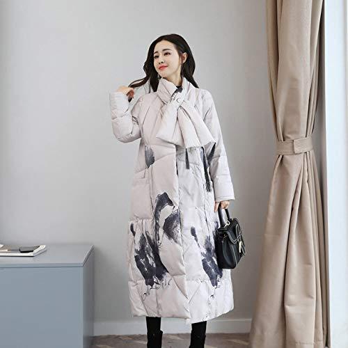 DPKDBN dames donsjack, verdikte donsjack vintage elegante slanke lange jas vrouwelijke winterjassen