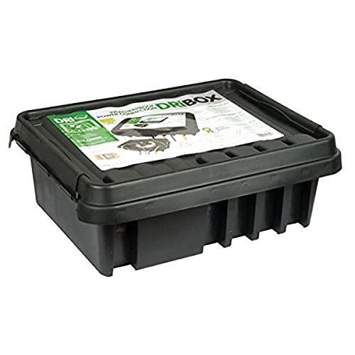Dri-Box DB-330-UK-B Wetterfeste Box Anschlußkasten für elektrische Geräte und Kabeln, IP55, Schwarz