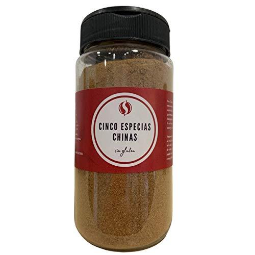 TodoEspecias Cinco Especias Chinas, Sin gluten, sin sal ni aditivos, Bote especiero con 2 dosificadores - 130g