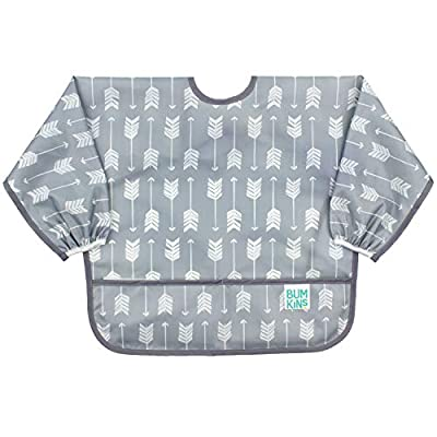 Bumkins Sleeved Bib / Baby Bib / Toddler Bib / Smock Waterproof, Washable, Stain and Odor Resistant, 6-24 Months - Arrows