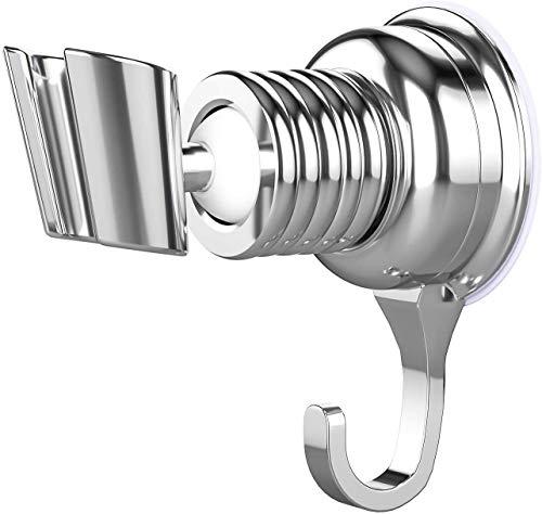 Joyoldelf 360° Handbrause Halterung Verstellbarer Brausehalter Bad Saugnapf Drehbar Brausehalter für Handbrause Duschkopfhalterung, Abnehmbarer ABS Handbrause Halterung