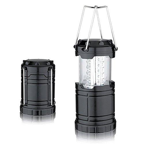 mytlp Ultra Lumineux 30 LED portable Camping Camp Lanterne lumière lampe pour la randonnée, pêche, Aventures en plein air, urgences, Ouragans, pannes (pliable, résistant à l'eau, 60 lumens)