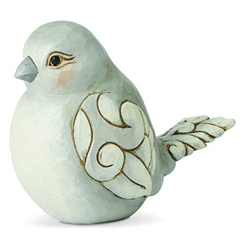 Enesco Jim Shore Heartwood Creek Charming Chirper Bird Figurine, 4.49 Inch, Gray