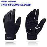 aegend Adjustable Lightweight Cycling Gloves - Touch Screen, Anti-Slip Full Finger Mountain Bike Gloves - Breathable Sports Gloves for Biking, Climbing, Hiking - Unisex Motorcycle Gloves for Men/Women