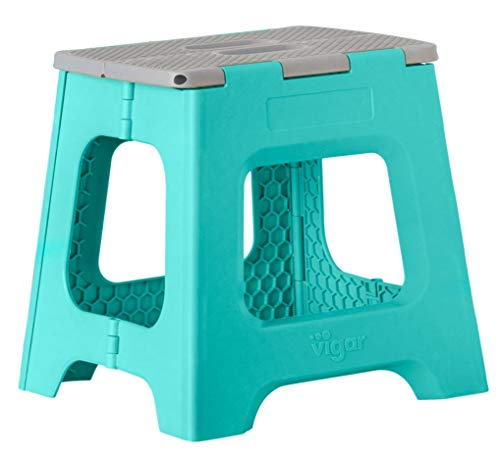 Vigar Taburete Plegable Compact de Color Turquesa de 32 cm de Altura