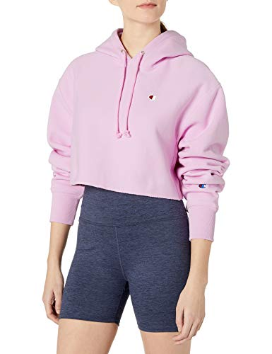 Champion LIFE Women's Reverse Weave Cropped Cut Off Hood-Mens, Ice Cake, Small