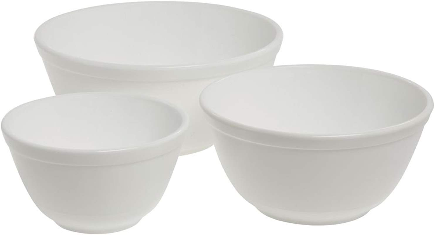 Mosser Glass Milk Glass Mixing Bowl Set