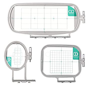 Sew Tech Embroidery Hoops for Brother SE600 PE550D PE535 SE400 PE525 PE540D PE500 SE625 SE425 Innovis Babylock Brother Embroidery Machine Hoop  3in1 Set