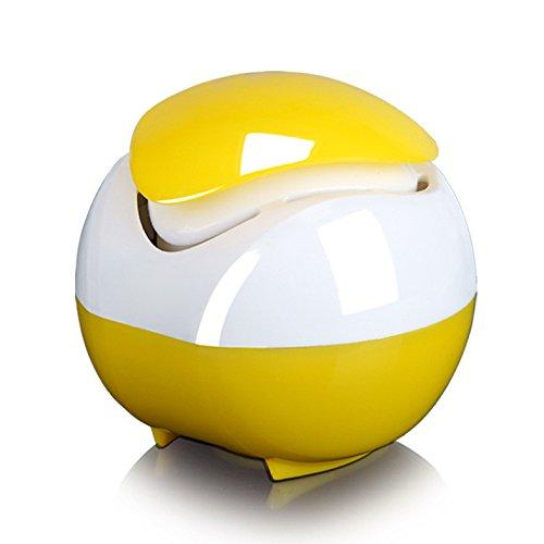 Best Deals! NUGJHJT USB Nano Activated Carbon Mini Purifier Aromatherapy Machine Silent Fan,Yellow-8...
