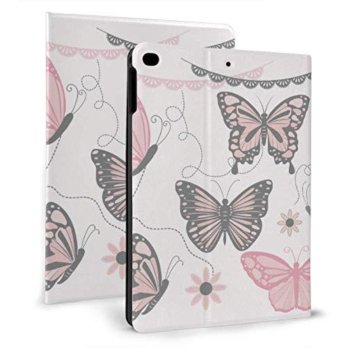 Ultra Thin Smart Leder Ipad Schutzhülle, Pink Grey Butterfly Sammlungen...