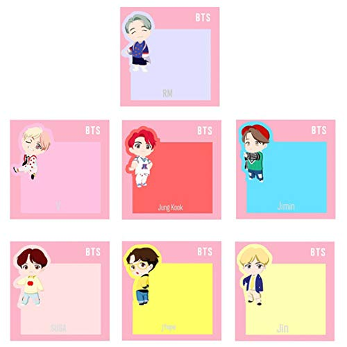 arret Middleton Buitengewone Kpop BTS POP-UP Store [ Huis van BTS : Karakter ] Sticky Notes Memo Pad Stickers Bladwijzer briefpapier J-hoop/