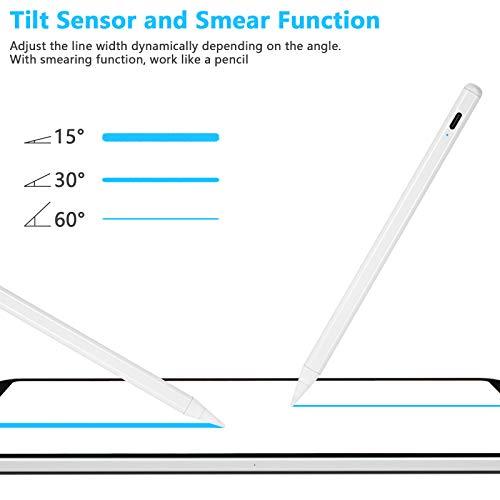 LIDIWEE Stylus Pen 2. Generation für iPad 2018-2020, Active Stift Pencil mit Palm Rejection, Auto Abschaltung Eingabestift Touchstift für iPad Pro 2020 & 2018/iPad Air 3/iPad Mini 5