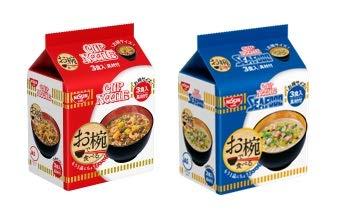 日清 お椀で食べる袋めん 詰め合わせ 2種類各2袋 1箱:4袋 ナポリタン 1p (カップヌードル・カップヌードルシーフード