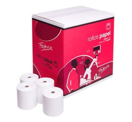 Rollo de papel térmico de 80 x 60 mm para TPV. Caja de 80 rollos