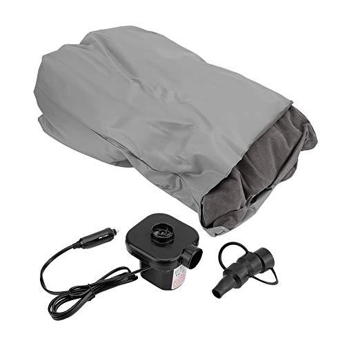 Opblaasbare matras, universele SUV opblaasbare matras, voor op reis, camping, auto, luchtbed, achterbank 2,8 x 43,3 inch default grijs