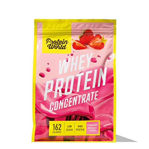 Protein World - Whey Protein Concentrate - High Protein, Low Sugar Post-Workout Shake Fudge Sundae 1.8kg - 45 Servings