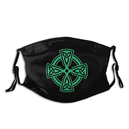 Celtic Cross Knot Irish Shield Warrior Outdoor Mask,Protective 5-Layer Activated Carbon Filters Adult Men Women Bandana