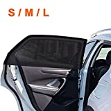 2Pack Universal Super Elastic Car Window Sunshades up to 45', Breathable Mesh Window Cover for Car, Side Window Screen for Car Camping Trip, Fit for Most Cars Truck SUVs