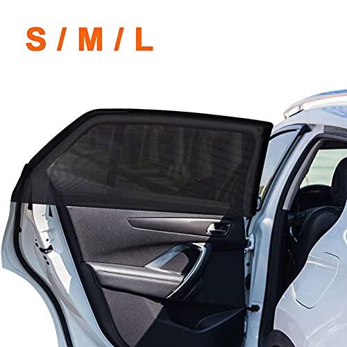 2Pack Universal Super Elastic Car Window Sunshades up to 45',...
