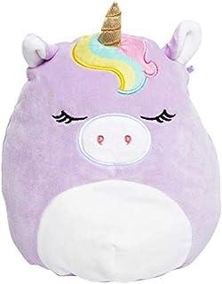 JGT Kids Toddlers Babies Squishmallows Animal (1) Ja'Cor Rainbow Dazzle Headband ~ (1) 8 Inch Sylvia The Lavender Unicorn Super Soft Plush Stuffed Toy Pillow ~ Bundle of 2