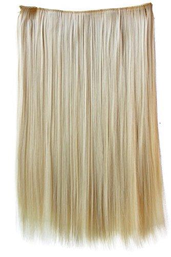 PRETTYSHOP 60cm Clip In Extensions Haarverlängerung Haarteil Glatt Platinblond C56