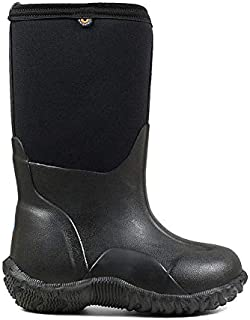 Kids Footwear Bundle: Bogs Kids' Classic Black Insulated Rain Boots & Towel