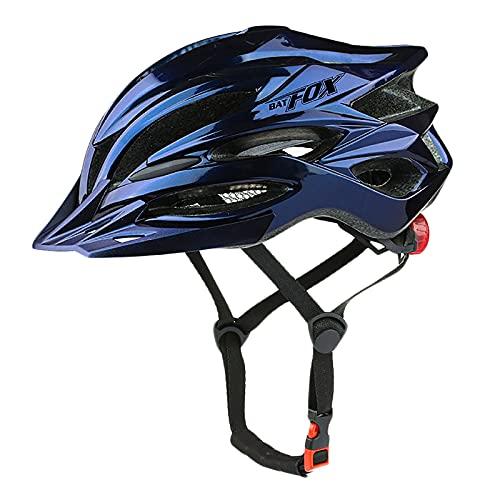 G&F Casco Bicicleta con Visera Y 22 Ventilaciones, Cascos Ciclismo Ligero para Patineta MTB Bicicleta Carretera Montaña 58-61CM (Color : Blue, Size : 58-61)