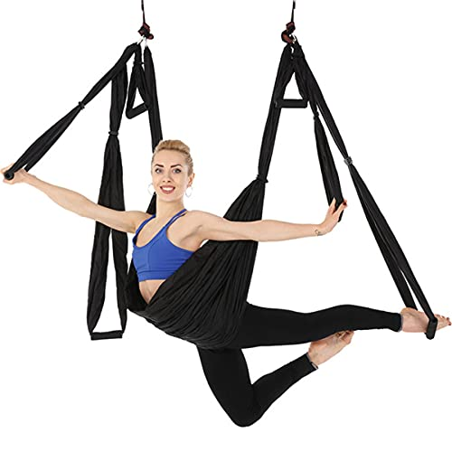 Aerial Yoga Swing Set,Aerial Yoga Hammock Trapeze,Ultra Strong Antigravity Yoga Hammock/Sling/Inversion Tool for Improved Yoga Inversions Flexibility & Core Strength,B from XiaXia