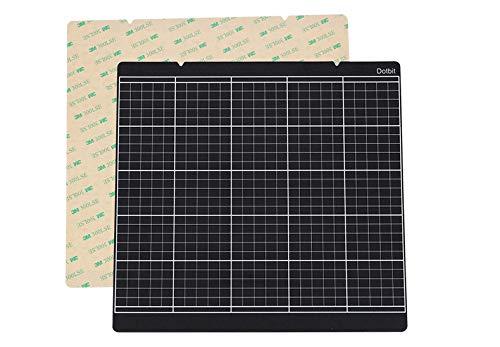 Prusa i3 MK3 MK52 Platte Heizbett Plattform Bauplatte Transparent Aufkleber Blatt für Prusa i3 Mk3 Mk2.5 Heizbett mit 300LSE 3M (schwarz)