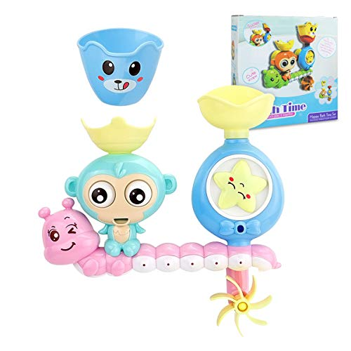 Bath Toys, Bath Wall Toy with Waterfall Station Toy, Bathtub Toys for Toddlers Kids Babies 1 2 3+ Year Old Boys Girls