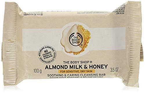 The Body Shop Almond Milk & Honey Soap Bar, Cleansing Bar Soap for Sensitive, Dry Skin, 3.5 oz.