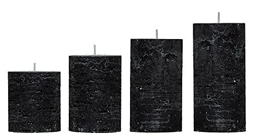 Smart Planet® Lot de 4 bougies dambiance de Noël - Couronne