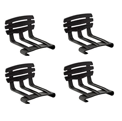 DUÉRMETE ONLINE - Pack de 4 Arquillos Laterales de PVC Sujeta Colchón, Recomendado para Camas Articuladas, Negro, Universal