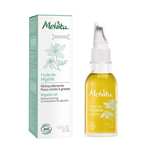 Melvita Huile de Nigelle Bio Purifie, Vegan Flacon Applicateur Précision, 50 ml