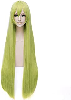 Aicos Fashion 100 CM Long Light Green Customes Anime Cosplay Wig for Women +Free Wig Cap