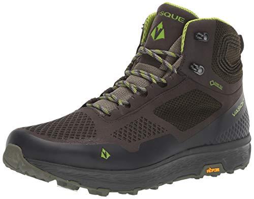 Vasque Men's Breeze LT Low GTX Gore-Tex Waterproof Breathable Hiking Shoe, Beluga/Lime Green, 11 M US