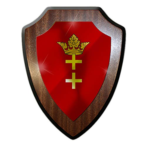 Wappenschild Danzig Polen Polnisch Fahne Flagge Wappen Abzeichen #27079