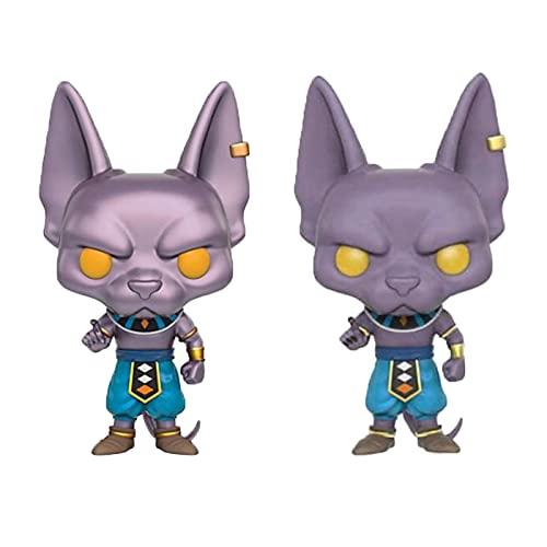 2Unids/ Set Figuras De Anime Dragon Ball Super Chapado Beerus Colección De Figuras De Acción Juguetes para Niños Cumpleaños 10Cm