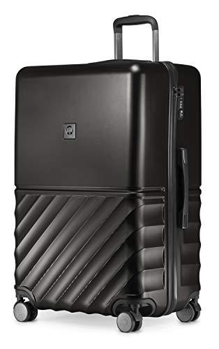 HAUPTSTADTKOFFER - Boxi - Hartschalen-Koffer Koffer Trolley Rollkoffer Reisekoffer 4 Rollen, TSA, 75 cm, 108 Liter, Schwarz