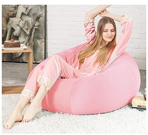 length Suave algodón Lazy Couch Bean Bag Tatami Balcón Dormitorio Sala de Estar Oficina Grueso Individual Suave Sección pequeña Sección Grande (Color : Light Pink, Size : L)