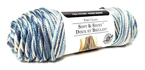 Loops & Threads Soft & Shiny Yarn, 1 Ball, Blue Moon, 4 ounces